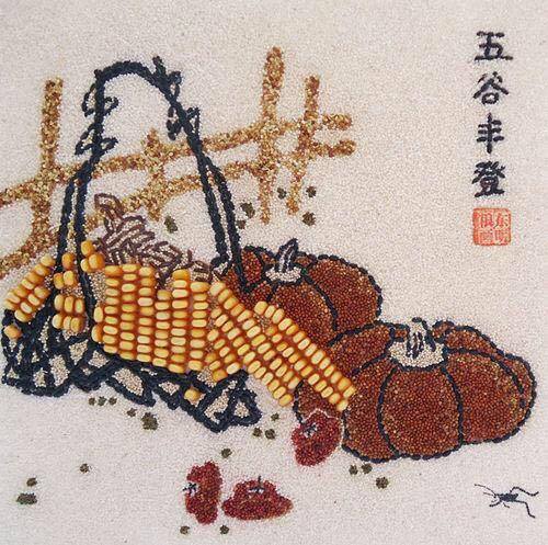 种子画_用粮食种子作画 7-12岁小朋友体验非遗文化