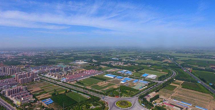 俯瞰山东聊城初夏景色蔚为壮观