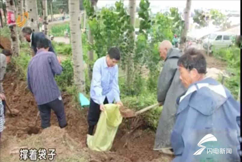 潍坊82岁老人奋战在抢险救灾一线:尽自己一点力量