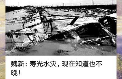 山东作家魏新微信发文驰援寿光,网友一天捐赠五万余元