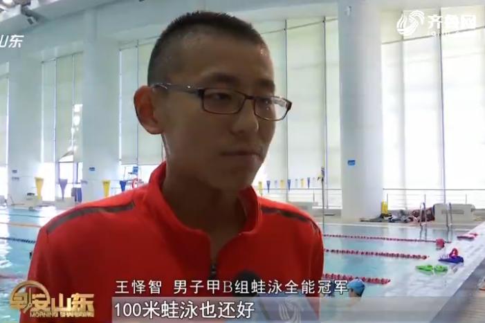 两破省运记录 13岁小伙与游泳结缘是偶然