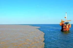 139秒|谁在黄河入海口打翻了调色盘?送上独家河海交汇异景