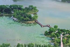 """一湖碧水映托的当代新城,107秒俯瞰""""德州外滩"""""""