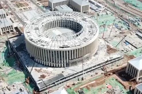 【担当作为抓落实】仅用108天 济南超算中心主楼项目基本完工