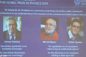 2019年诺贝尔物理学奖揭晓,三位科学家获奖