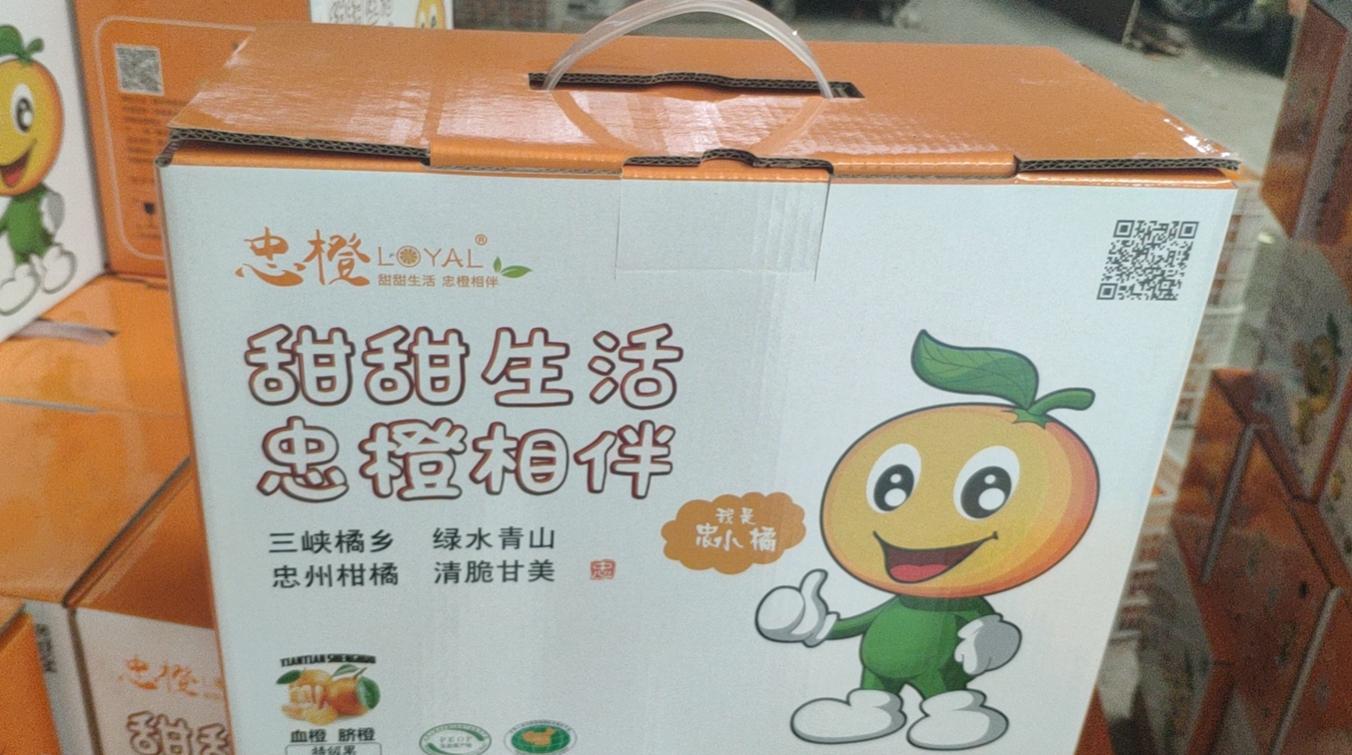礼盒装忠橙,一盒10斤50元