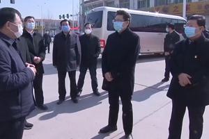 田庆盈到企业检查指导疫情防控工作