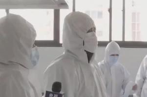 直播:山东烟台服装生产企业转产防护服