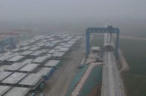 【鲁南高铁】57秒丨鲁南高铁中铁二局嘉祥段复工 目前已完成316孔箱梁预制