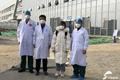 山东援助湖北医疗队在黄冈治愈的第一例患者上班了