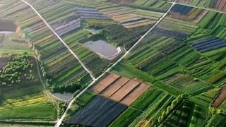 田园之美丨高空俯瞰山东田园之美,每一帧都是大片