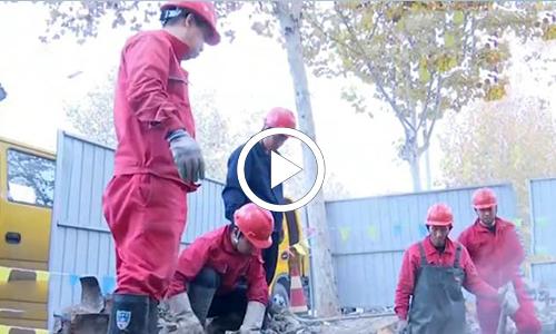 供热管道泄漏 及时抢修确保供暖