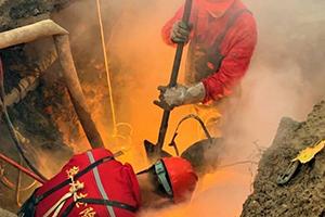 德州一处供暖管道出现漏点 及时抢修确保供暖