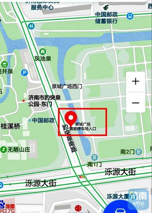 4日晚,记者探访位于趵突泉景区东门对过的泉城广场智能停车场发现