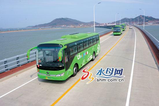 烟台长岛50辆纯电动旅游公交车投入运营