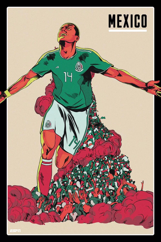 霸气!世界杯各国家队海报,冰岛队最惊喜,你最喜欢谁?