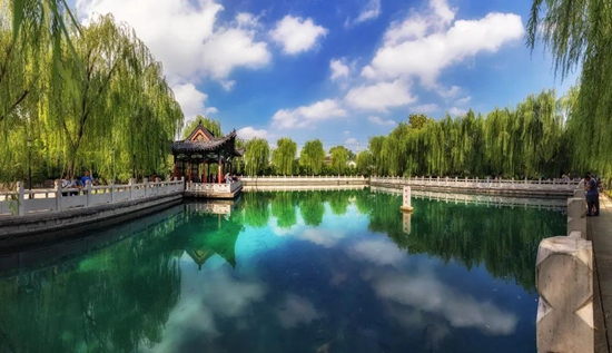 济南夏天风景照