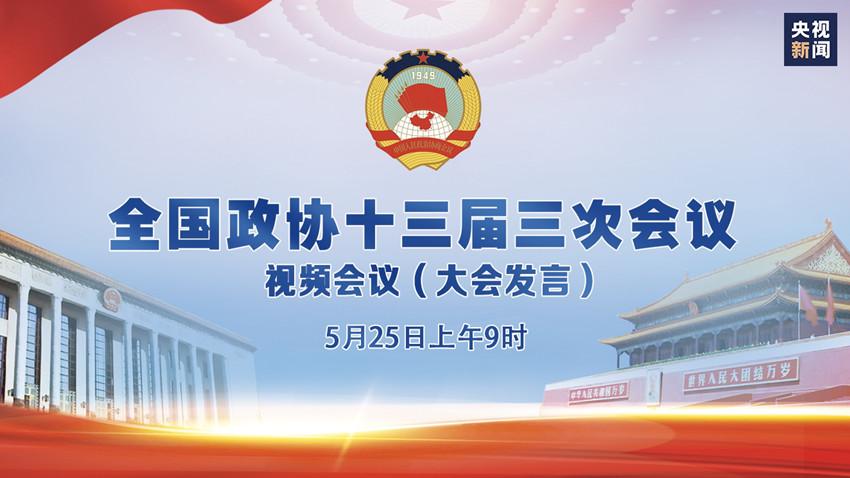 直播:全國政協十三屆三次會議視頻會議(大會發言)