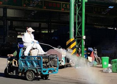 地毯式消杀排查!潍坊城区各农贸市场加强疫情防控 登记海鲜来源