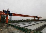 潍日高速潍坊连接线项目梁板全部架设完成
