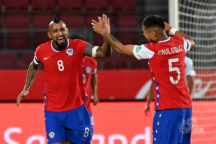 比达尔世界波,智利2-0秘鲁