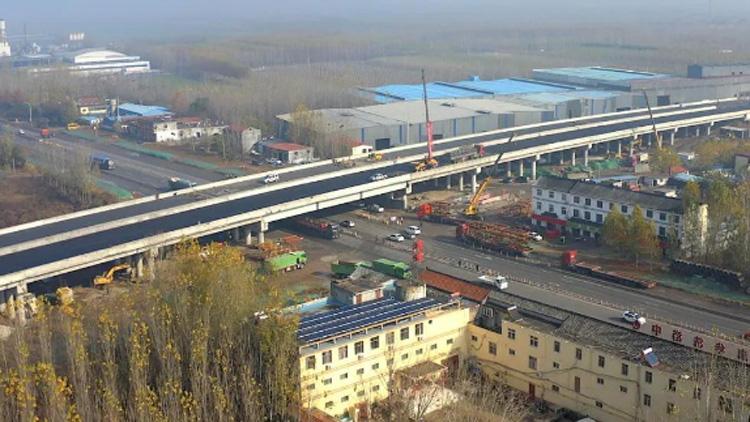 G327改建工程曲阜至任城段进入收尾阶段,月底通车