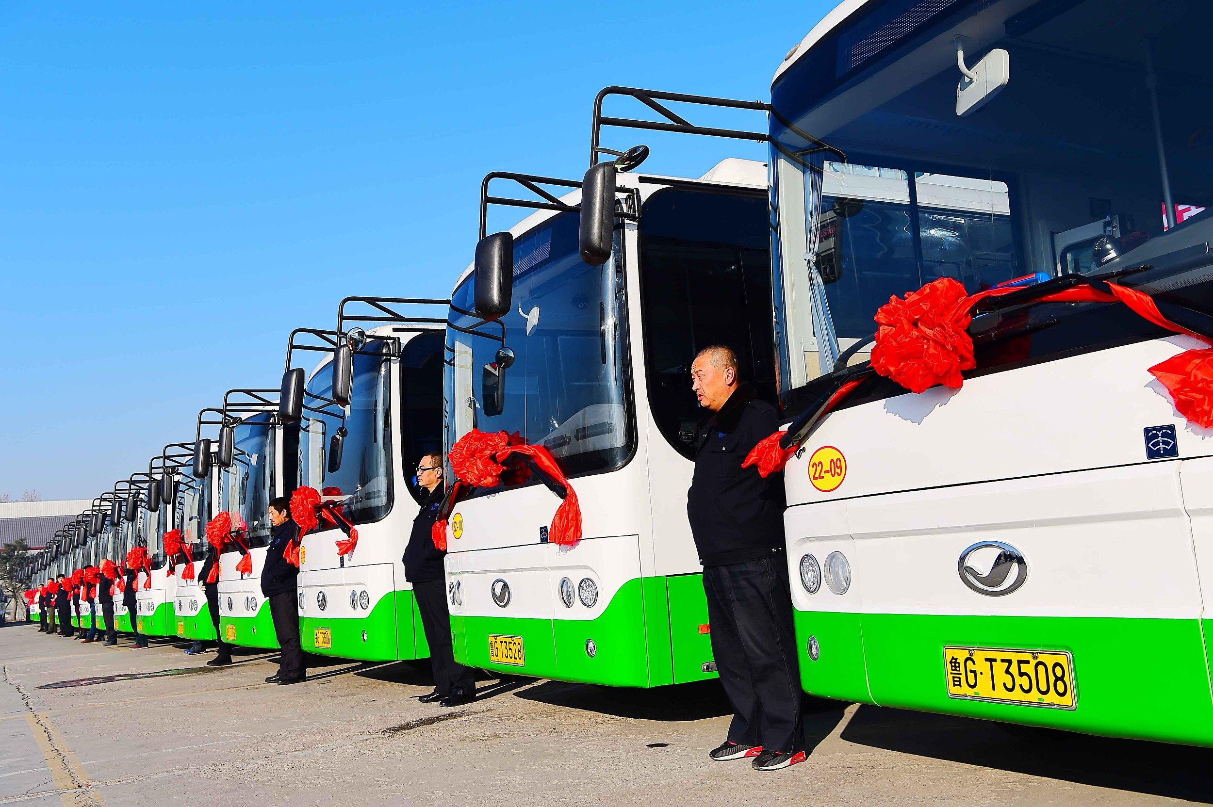 """""""跑""""出绿色与文明!""""十三五""""期间潍坊市公交事业实现快速发展"""