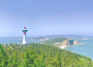 长岛北长山灯塔重建发光