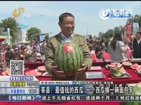 莘县:最值钱的西瓜 一个西瓜换一辆面包车
