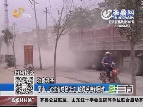 【独家调查】梁山:山东省道变成扬尘道 脏得呼吸都困难