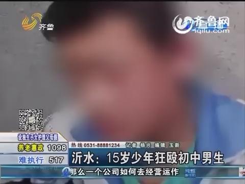 沂水:15岁少年狂殴初中男生