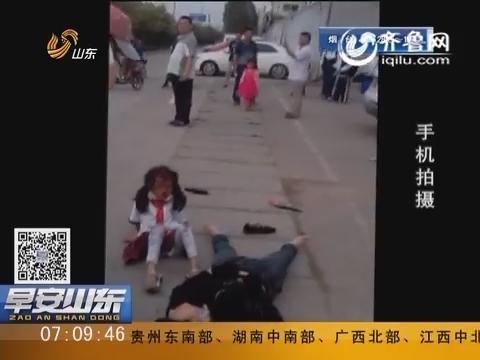 泰安:一面包车失控连撞三辆电动车 六人受伤