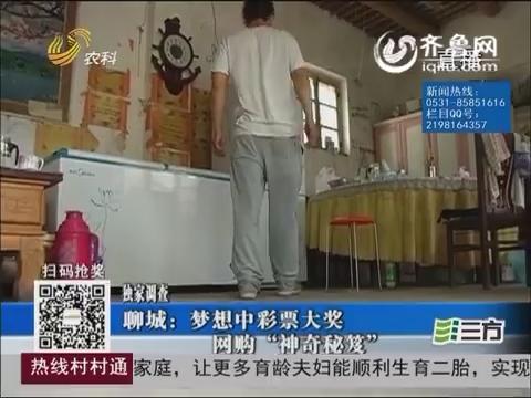 """【独家调查】聊城:梦想中彩票大奖 网购""""神奇秘笈"""""""