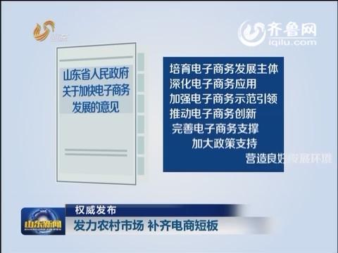 权威发布 发力农村市场 补齐电商短板