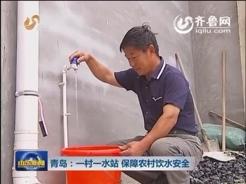 青岛:一村一水站 保障农村饮水安全