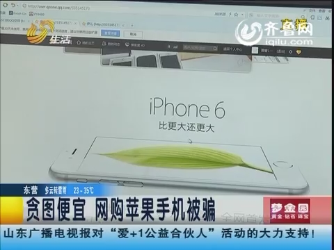 潍坊:贪图便宜 网购苹果手机被骗
