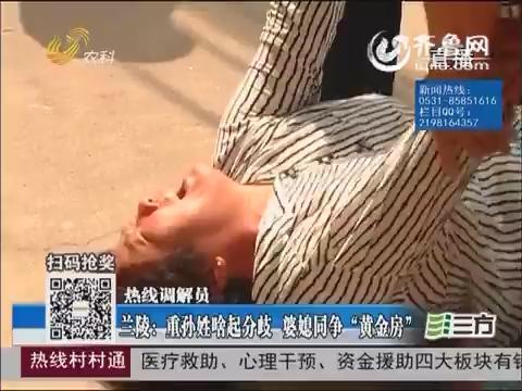 """【热线调解员】兰陵:重孙姓啥起分歧 婆媳同争""""黄金房"""""""
