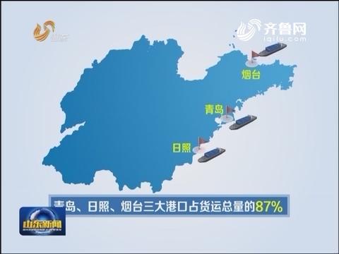 6月份山东沿海货物进出港总量同比增长4.8%