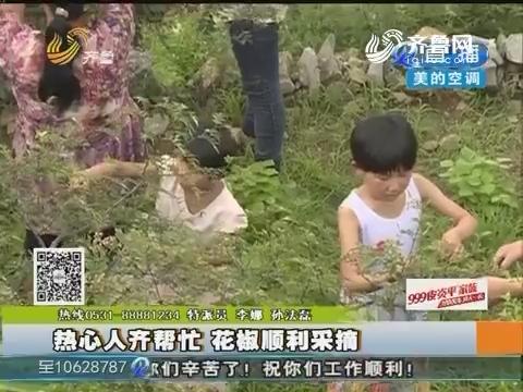 枣庄:热心人齐帮忙 花椒顺利采摘