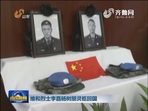 维和烈士李磊、杨树鹏灵柩抵达郑州