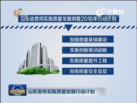 山东发布实施质量发展行动计划