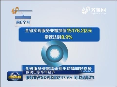 数说山东半年经济:服务业占GDP比重达百分之47.9  同比提高百分之2