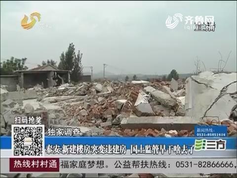 【独家调查】泰安:新建楼房突变违建房