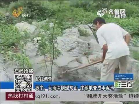 【独家调查】枣庄:大雨冲刷煤灰山 庄稼地变成水泥地