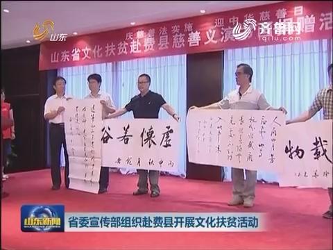 山东省委宣传部赴费县开展文化扶贫活动