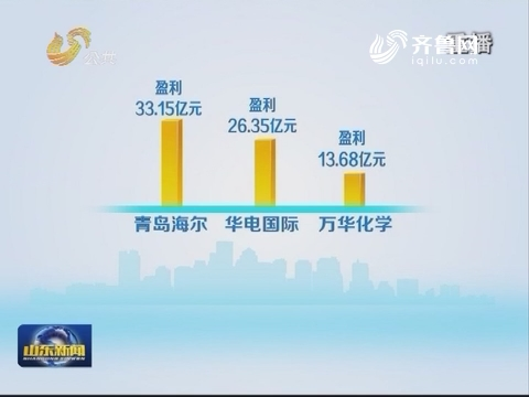 上半年164只鲁股实现净利润282.46亿元  同比增长百分之二十四点三七