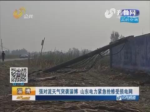 强对流天气突袭淄博 山东电力紧急抢修受损电网