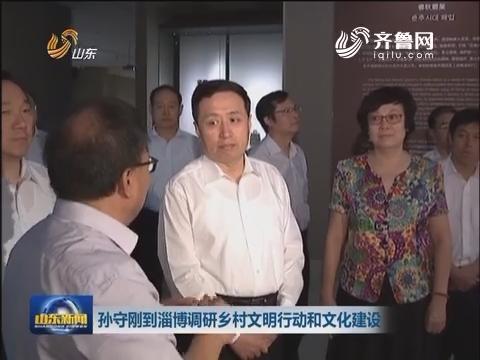 孙守刚到淄博调研乡村文明行动和文化建设