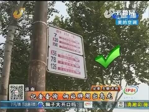 """济南:""""特殊""""站牌 这是114还是141?"""