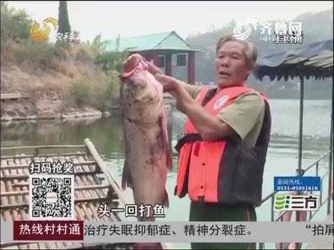 """莱芜雪野:金秋渔民""""第一网""""逮到40斤大鱼"""